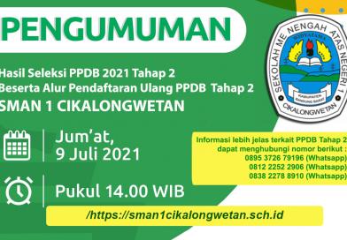 Daftar Ulang Hasil Seleksi PPDB Tahap 2 Tahun 2021